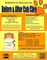 Before & After Cub Care School Year 2016-17